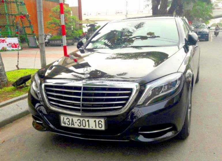 Da nang Mercedes VIP car rental and with driver, thue xe cao cap da nang